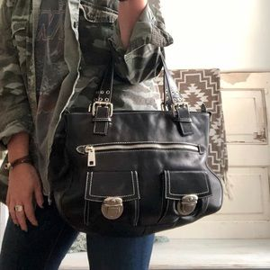 Black Leather Purse Marc Jacobs Stella Tote
